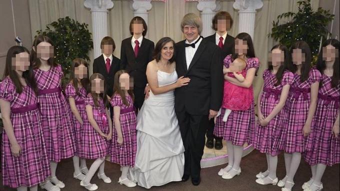 La deuxième fois que le couple a renouvelé ses vœux à Las Vegas en présence de tous les enfants.