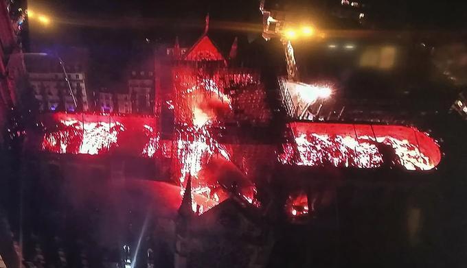 L'image saisie par un drone a montré l'ampleur de la destruction. <br/>