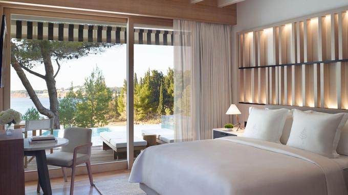 Des chambres et des suites lumineuses...