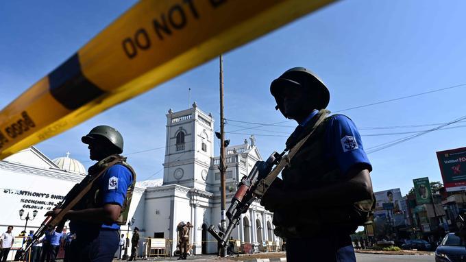 L'accès à l'église Saint Anthony à Colombo est interdit.
