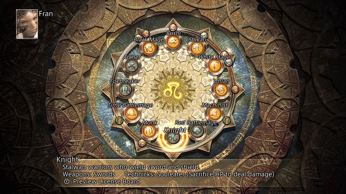 L'écran de gestion des «jobs» qui maintenant autorise le joueur à les remettre à zero en cours de partie.