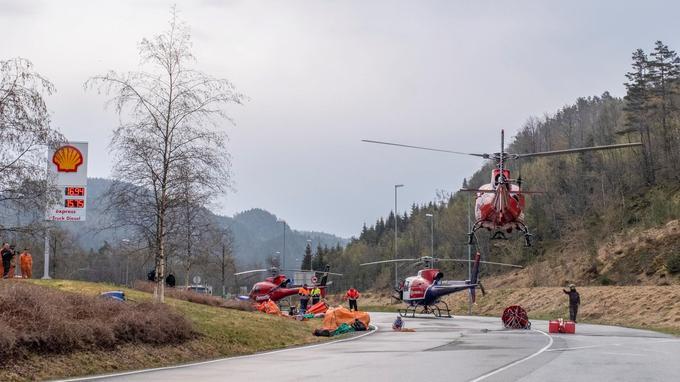 Huit hélicoptères étaient affectés ce mercredi à la lutte contre les incendies en Suède.