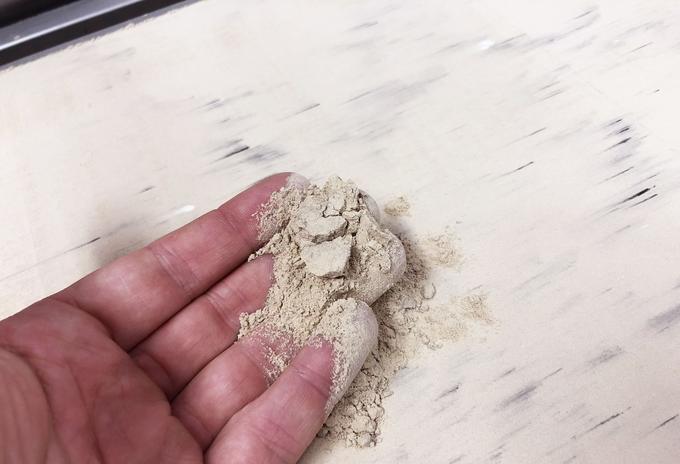 La poudre utilisée pour imprimer en 3D.