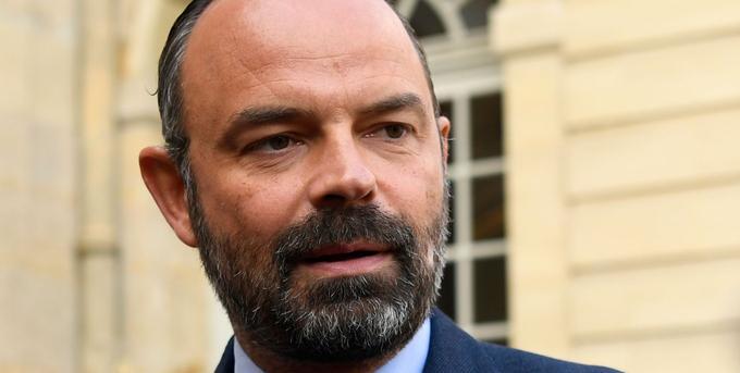 Le premier ministre, Édouard Philippe, à Matignon, lundi.