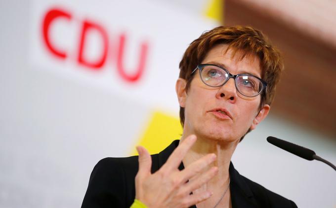 Annegret Kramp-Karrenbauer est à la tête de la CDU-CSU.