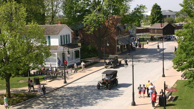 Greenfield Village, une bourgade refaite à l'identique.