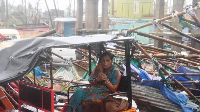 La ville de Puri ravagée par l'ouragan Fani.