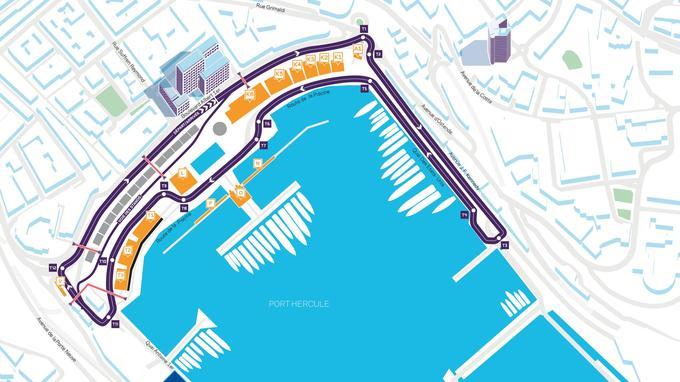 Le tracé de l'épreuve monégasque se concentre autour de la ligne droite des stands et du port.