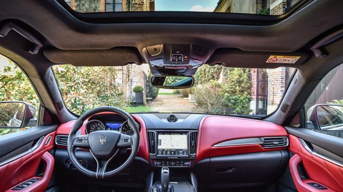 La Maserati Levante S en finition GranSport avec l'option cuir pleine fleur.