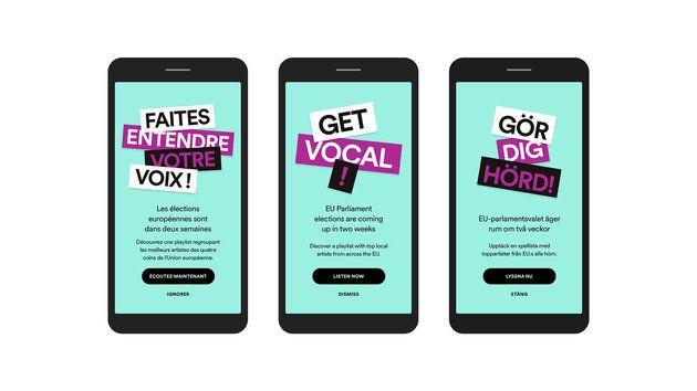 «Faites entendre votre voix!» Voici le message que Spotify adresse depuis le 9 mai à ses utilisateurs.