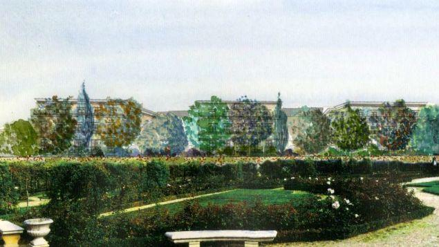 Représentation des immeubles et de l'écran végétal, vu depuis la Roseraie, présente dans le diaporama d'une réunion publique datée de novembre 2016.