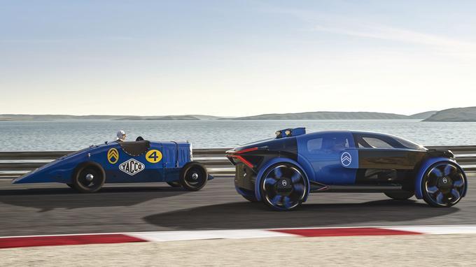 Le bleu électrique arboré par ce concept est un clin d'œil à la teinte portée par «La Petite Rosalie» de 1933.