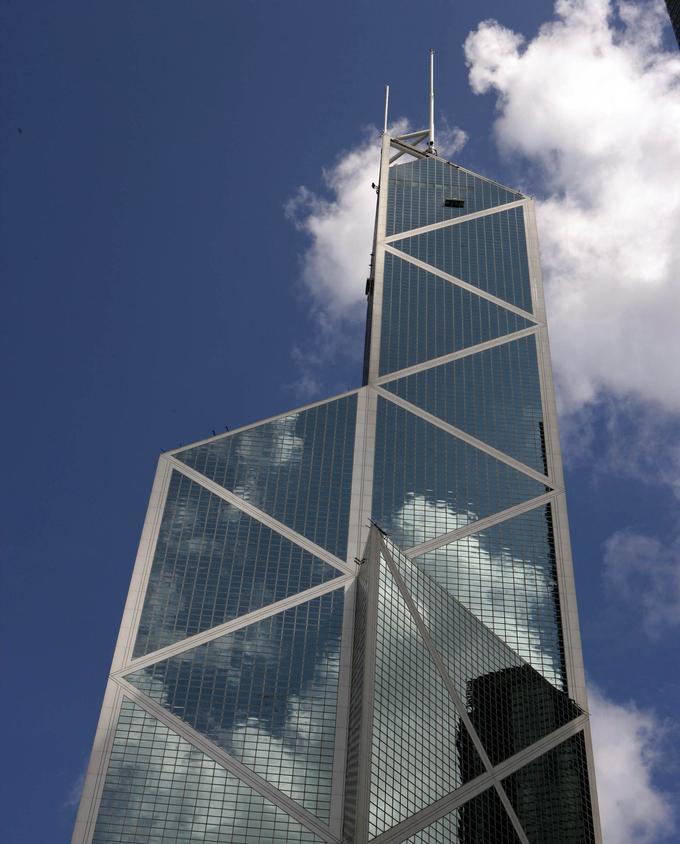 L'immeuble de la Bank of China à Hong Kong, l'un des symboles de la ville.