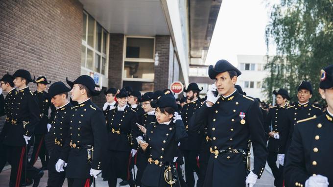 Des élèves de l'École polytechnique à Palaiseau (Essonne). - Crédits photo: LUCIEN LUNG/Le Figaro