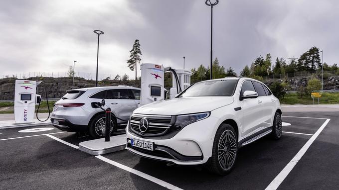 Pour recharger la batterie, Mercedes compte s'appuyer sur le réseau Ionity dont il est l'un des partenaires.