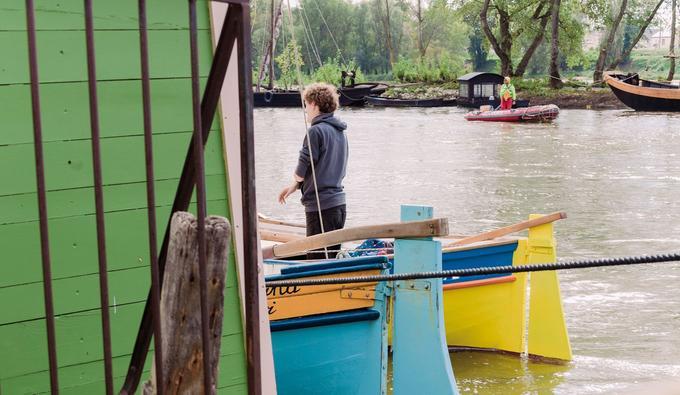 Bateaux en bois sur la Loire.