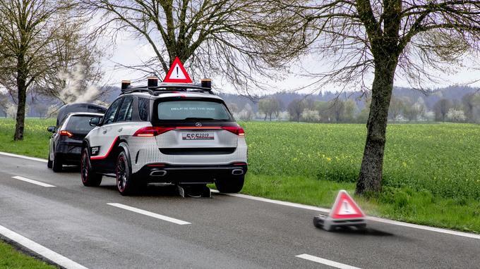 L'une des innovations inédites de l'ESF 2019: le panneau de signalisation en forme de robot autonome.