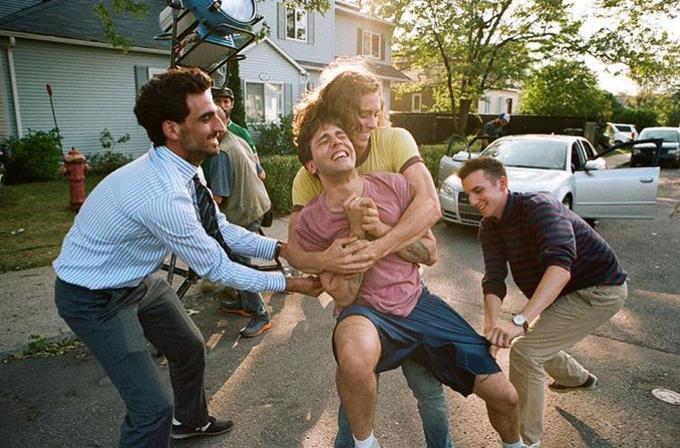 Xavier Dolan et sa bande d'amis sur le tournage de «Matthias et Max».