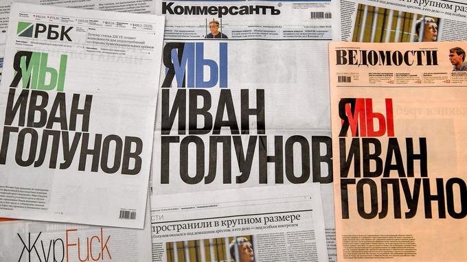 Les 3 unes des journaux de ce lundi 10 juin. Le titre commun: «Je suis Ivan Golounov».