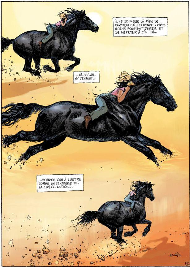«On m'a souvent dit que mes dessins de chevaux faisaient du bruit», sourit Michel Faure.
