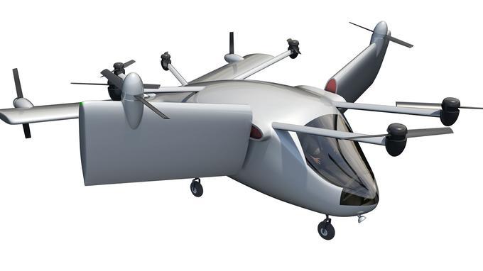 Le Mini-Bee, une ambulance volante. Crédit: Technoplane