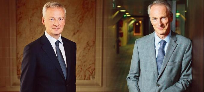 Bruno Le Maire, ministre de l'Économie et des Finances, et Jean-Dominique Senard, président de Renault.