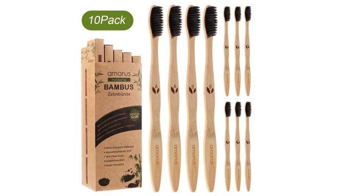 Brosse à dents en bambou: Amorus