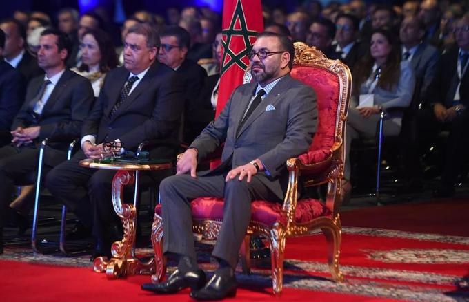 Le roi Mohammed VI, lors de l'inauguration de l'usine PSA de Kénitra, le 21 juin 2019.