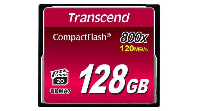Carte mémoire: Transcend CompactFlash 128 Go