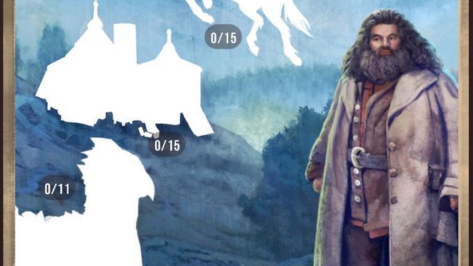 Capture d'écran du «Registre», l'album qu'il faut compléter dans «Harry Potter: Wizards Unite».