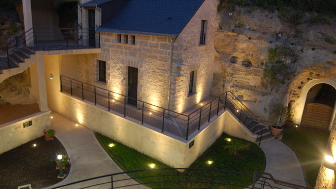 L'hôtel troglodyte Le Rocaminori
