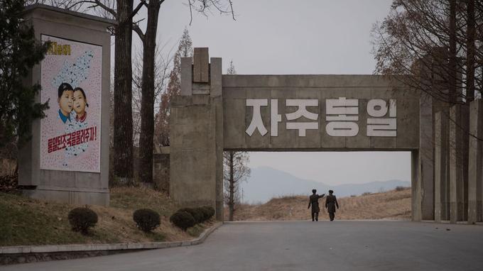À Panmunjom, coté nord-coréen