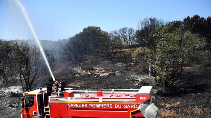 Jusqu'à 550 pompiers ont été mobilisés, dont 200 venus d'autres départements.
