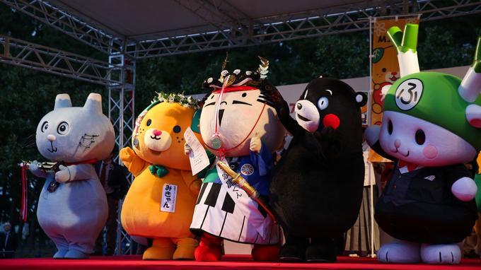 Le Japon aime les mascottes: plus d'une dizaine d'entre elles seront présentes cette année encore. Dont la plus célèbre de l'archipel, l'ours Kumamon, représentant de la préfecture de Kumamoto.