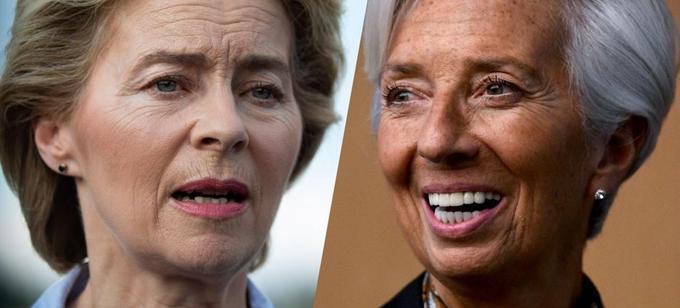 Ursula von der Leyen et Christine Lagarde.