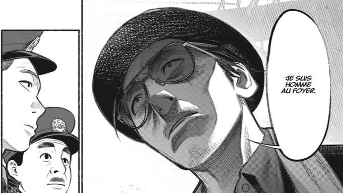 Tatsu avec sa mine patibulaire à bien du mal à convaincre les policiers municipaux qu'il n'est pas un Yakuza...