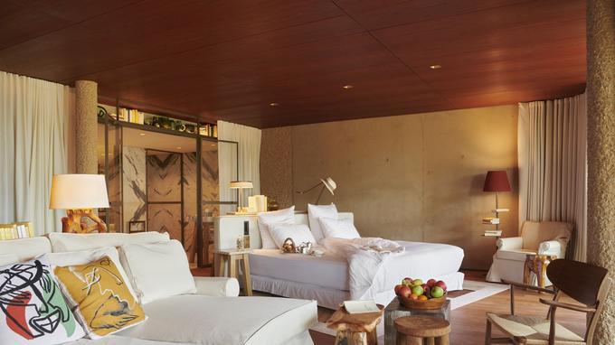 Dans les chambres, atmosphère douce dédiée au calme et à l'évasion...