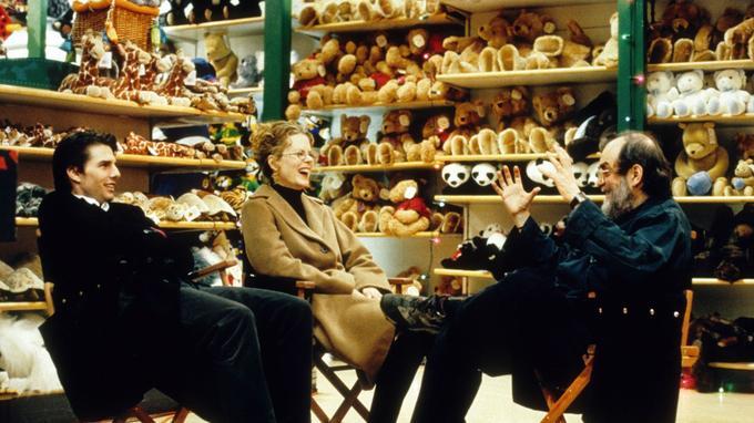 Stanley Kubrick sur le plateau d'«Eye Wide Shut» avec Tom Cruise et Nicole Kidman