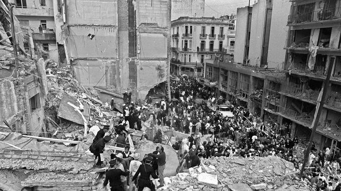 L'état du bâtiment quelques heures après l'explosion