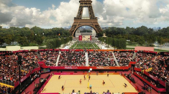 Voilà à quoi devrait ressembler l'épreuve de beach volley sur le Champ de Mars.