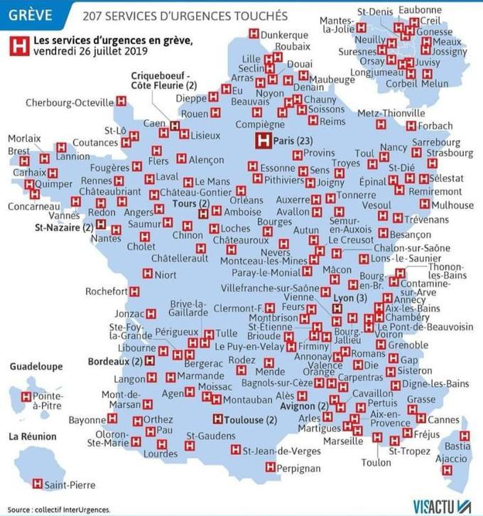 Plus de 200 services d'urgences sont en grève dans toute la France.