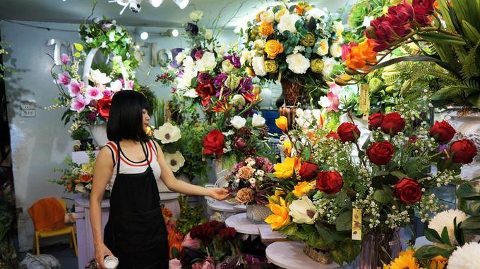 Les Vietnamiens sont également les champions de la fleur factice.