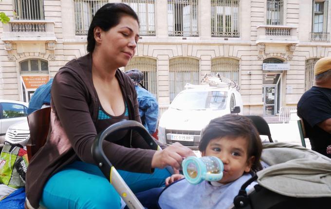 Juliana et son fils Michel-Ange ont habité pendant trois mois dans le squat.