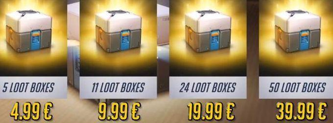 L'écran d'achat des «loot boxes» dans le jeu vidéo Overwatch