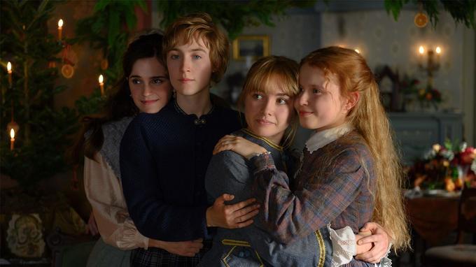 La fratrie March au grand complet: Emma Watson, Saoirse Ronan, Florence Pugh, Eliza Scanlen.