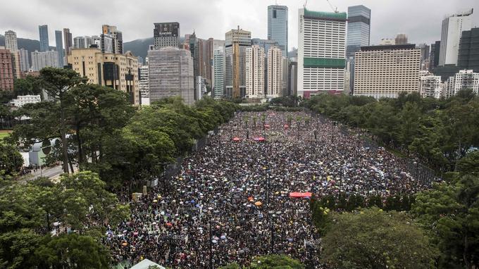 Parc Victoria de Hongkong ce 18 août 2019.
