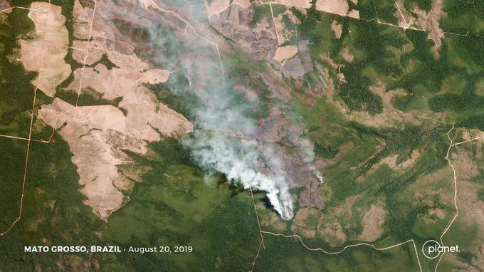 Incendies dans le Mato Grosso.