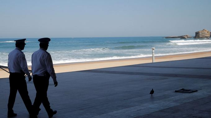 La Grande plage de Biarritz samedi 24 août.