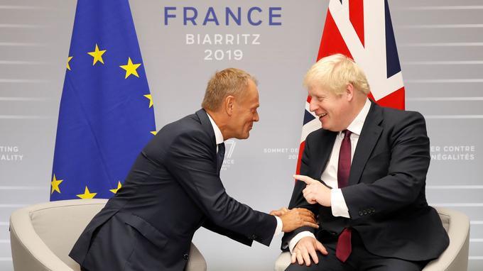 Donald Tusk et Boris Johnson se rencontrent à Biarritz en parallèle du G7, le dimanche 25 août.