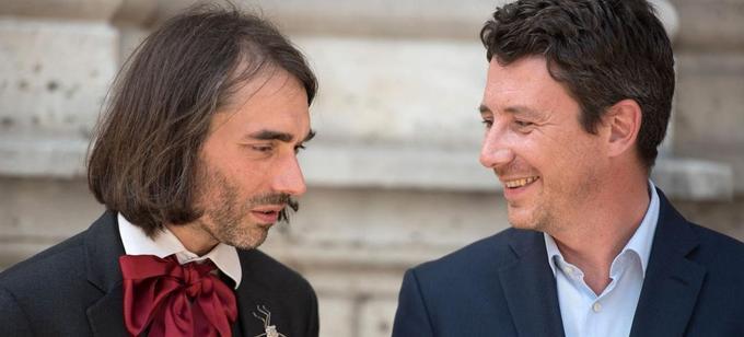 Cédric Villani et Benjamin Griveaux, en 2017.